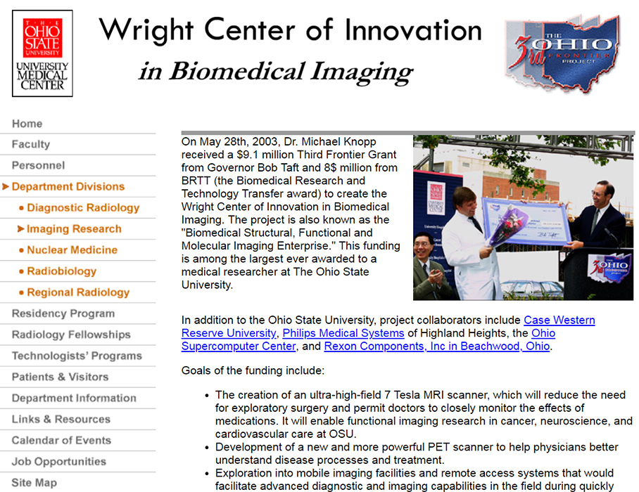 Heather's Design of The Department of Radiology's Site